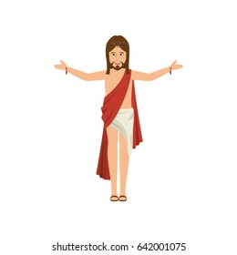 cartoon jesus christ  icon