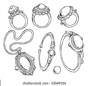 Cartoon Jewelry-Clip-Art