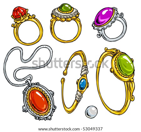 cartoon jewelry clip art color stock vector royalty free 53049337