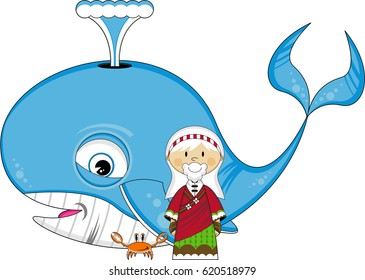 Cartoon Jonah and the Whale