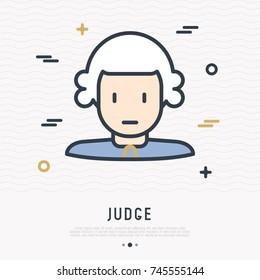 Judge Wig Stock Vectors Images Vector Art Shutterstock