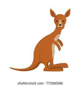 cartoon kangaroo icon