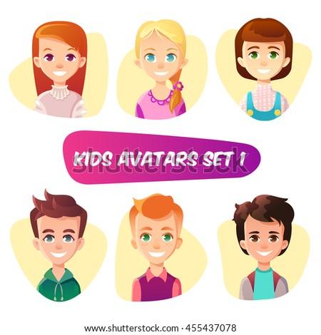 Animated redhead female avatars