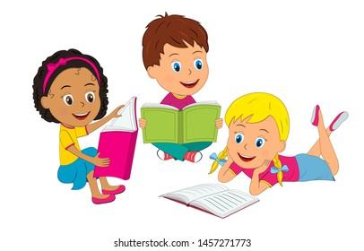 20+ Reading Cartoon Images  Background
