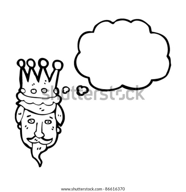 Cartoon Kings Head Crown Stock Vector Royalty Free 86616370 Medieval outline monarch royal crown queen king lord princess prince head cartoon lineart icons set isolated vector. shutterstock