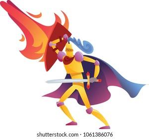 Cartoon knight character