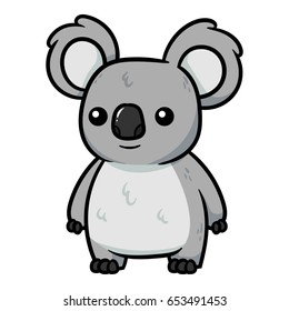 Cartoon Koala Vector Illustration
