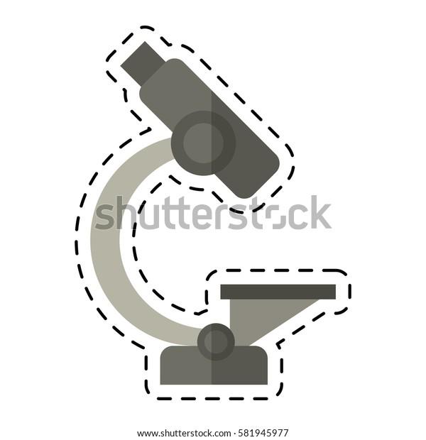 cartoon laboratory microscope equipment icon