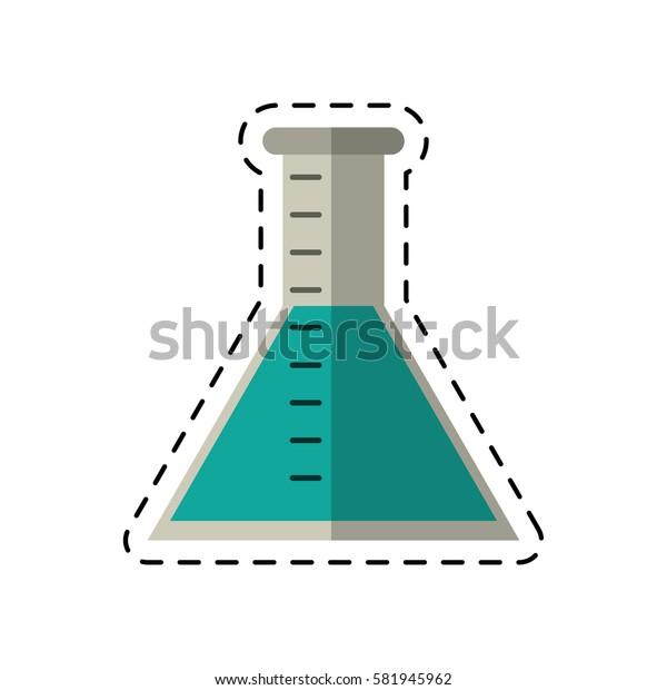 cartoon laboratory test tube chemistry