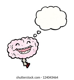 cartoon laughing brain