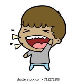 cartoon laughing man