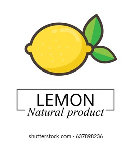 cartoon lemon label