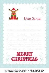 Cartoon letter santa winter dog gift stock vector 765051826 cartoon letter to santa with christmas deer and gift spiritdancerdesigns Choice Image