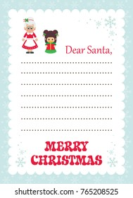 Mrs santa claus images stock photos vectors shutterstock cartoon letter to santa mrs santa and christmas elf with gift spiritdancerdesigns Image collections