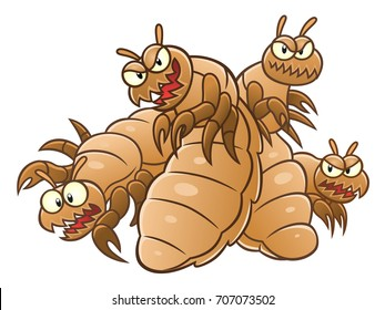 Cartoon lice