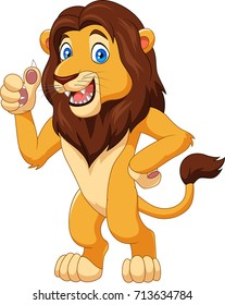 Cartoon lion giving thumbs up