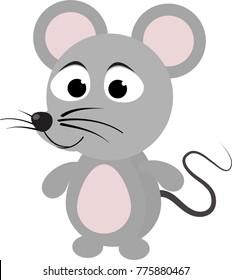 cartoon little mouse