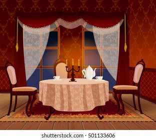 Dining Table Cartoon Images Stock Photos Vectors