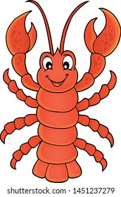 Cartoon lobster theme image - eps10 vector illustration.