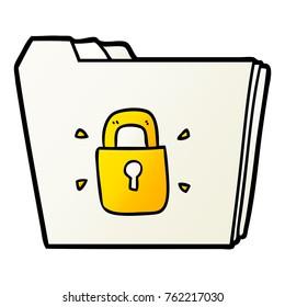 cartoon locked files