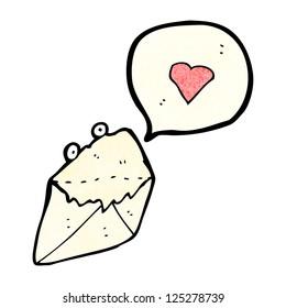 cartoon love letter