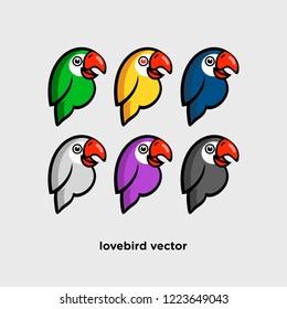 cartoon lovebird vector lovebird full color lovebird vector design