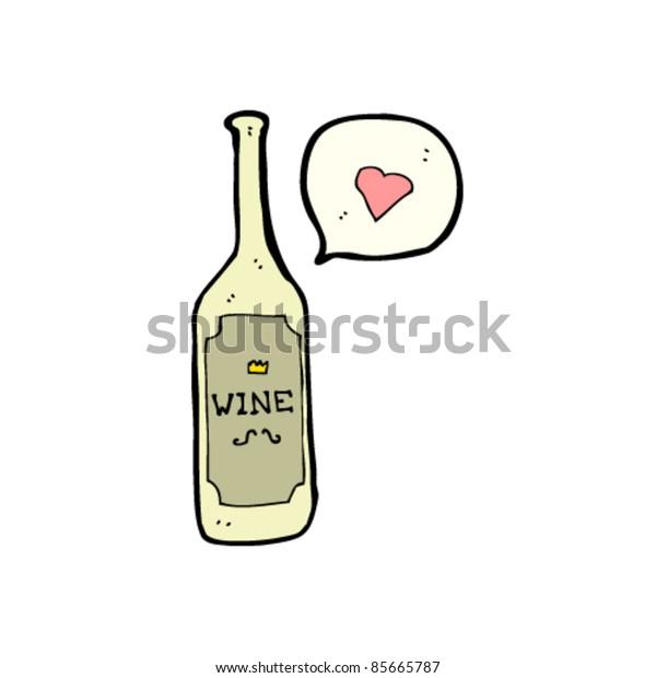 cartoon lovely bottle of wine