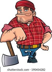 cartoon lumberjack images stock photos vectors shutterstock rh shutterstock com Lumberjack Clip Art Funny Lumberjack