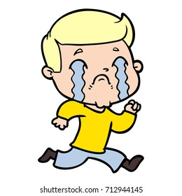 cartoon man crying