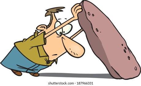 cartoon man holding a negative one score card