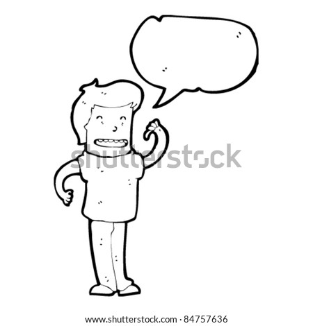 cartoon man pointing self stock vector royalty free 84757636