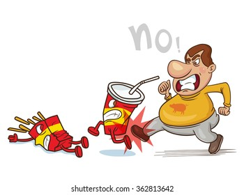 Say No Unhealthy Food Images, Stock Photos & Vectors