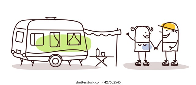 Caravan Drawing Images, Stock Photos & Vectors | Shutterstock