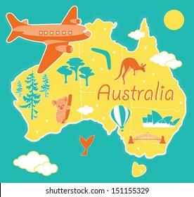 Australia Map Cartoon.Australia Map Cartoon Images Stock Photos Vectors Shutterstock