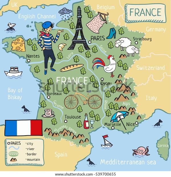 Cartina Della Francia Con Monumenti.Cartina Dei Cartoni Animati Della Francia