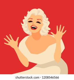 marilyn monroe vector images stock photos vectors shutterstock https www shutterstock com image vector cartoon marilyn monroe vector illustration editorial 1208546566