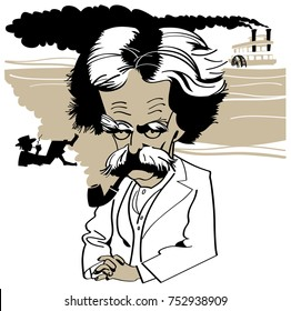 Cartoon Mark Twain