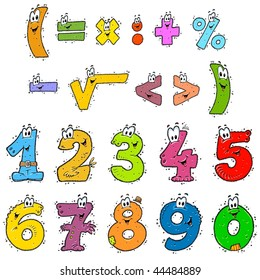 Cartoon Mathematics  - Numbers and Signs