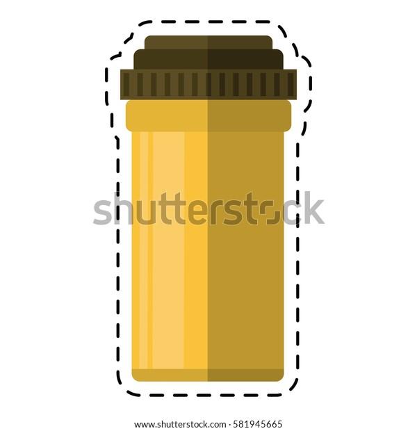 cartoon medical bottle pills pharmacy