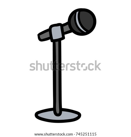 cartoon microphone on stand stock vector royalty free 745251115 rh shutterstock com cartoon microphone images cartoon microphone as a person