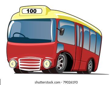 Cartoon mini bus