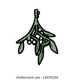 cartoon mistletoe