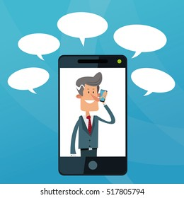 Cartoon and mobile lifestyle design