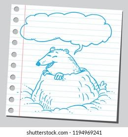 Cartoon mole speaking