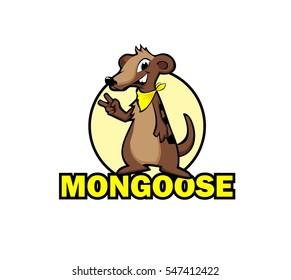 Cartoon mongoose. Vector illustration.