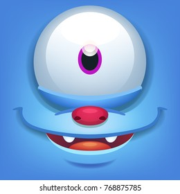 Cartoon Monster Face