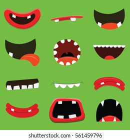 Cartoon Monster Mouth Collection