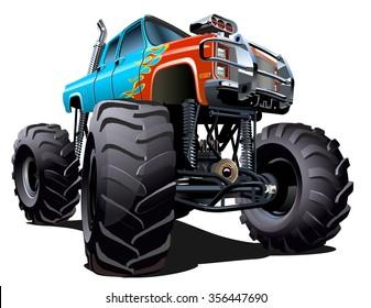 Cartoon Monster Truck Images Stock Photos Vectors Shutterstock