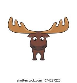 cartoon moose logo