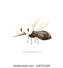 Cartoon mosquito vector isolated